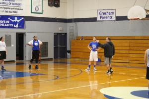 Head coach Todd Negal discussing defense during a weekday practice