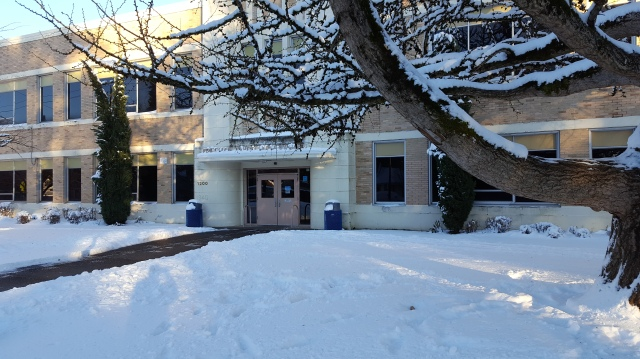 Front Of The School With Lots Of Snow Credit: Ty Gonrowski